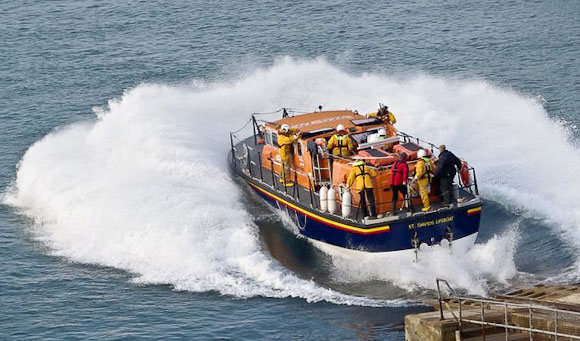 St. David's Lifeboat Launch © Mike Graham